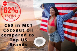 Best C60 MCT Coconut Oil Prices to USA and Canada 63% saving compared to Top US Brands