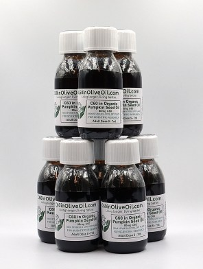 8 x100ml bottles of C60 in organic pumpkin seed oil